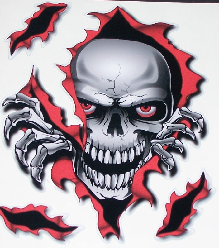 Graphics For Ripped Flaming Skull Vinyl Graphics Www - Superb vinyl graphics